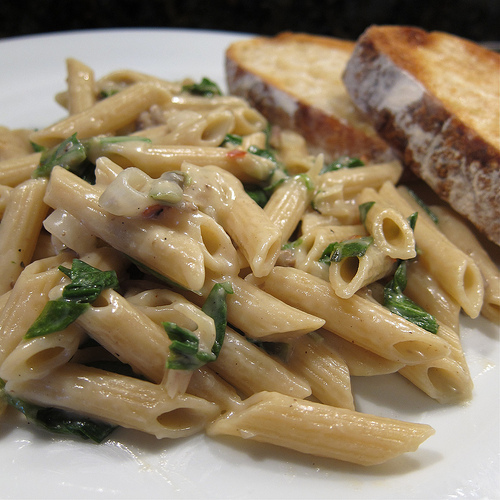 Penne Pasta And Fresh Ramps